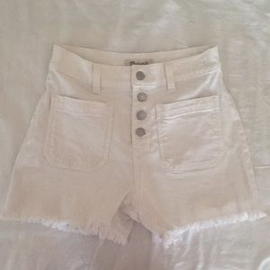 Madewell High Rise Button Fly Denim Shorts